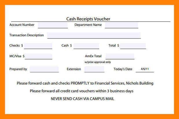 5+ cash receipt voucher | example of memo