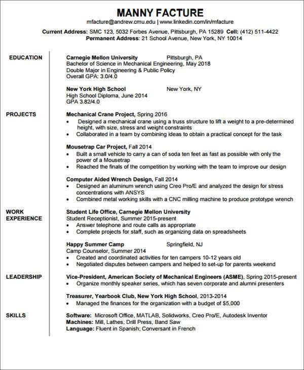 23+ Engineering Resume Templates in PDF   Free & Premium Templates