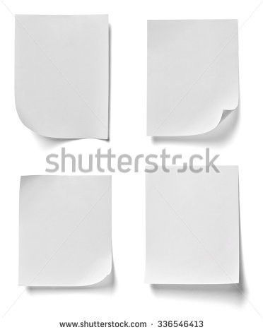 Collection White Sticky Notes Different Shadows Stock Vector ...