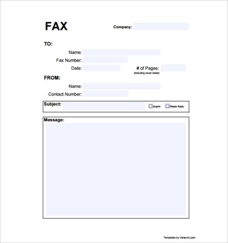 Fax Cover Sheet Printable Templates Free & Premium | Creative Template