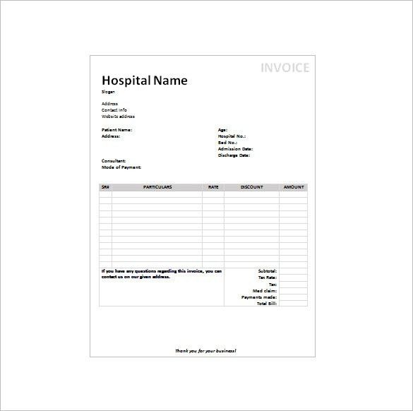 Medical Receipt Template – 7+ Free Sample, Example, Format ...