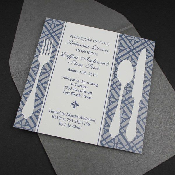 Invitation Template – Square Rehearsal Dinner Invitation ...