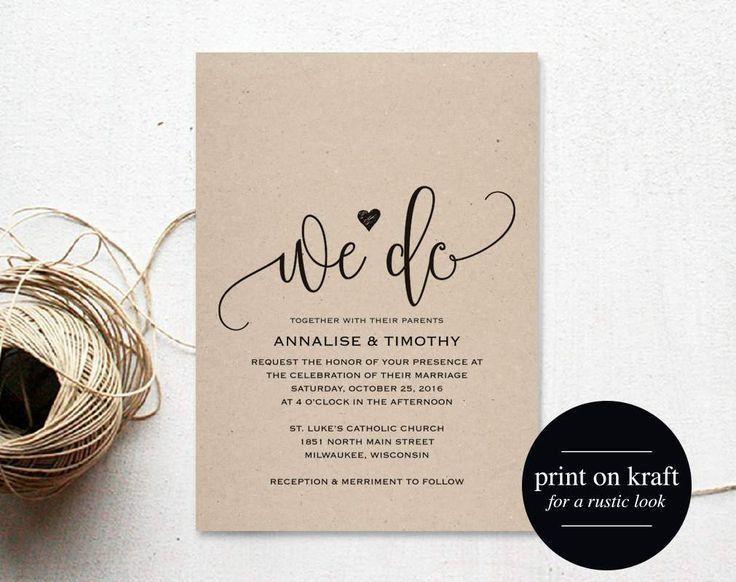 Best 25+ Wedding invitation templates ideas on Pinterest | Diy ...