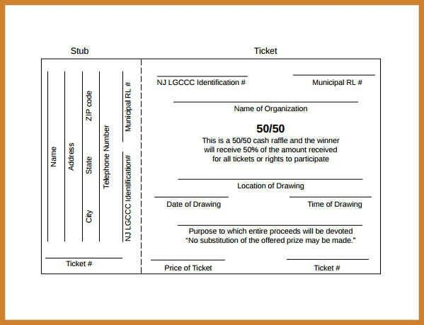 free raffle ticket template | notary letter