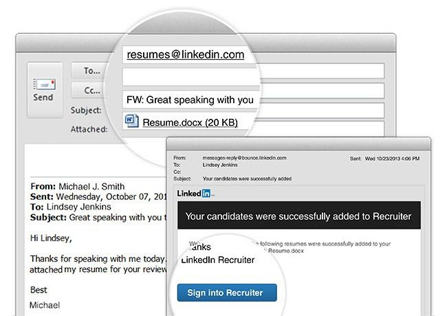 Adding Resumes to Recruiter Now As Easy As Sending an Email ...