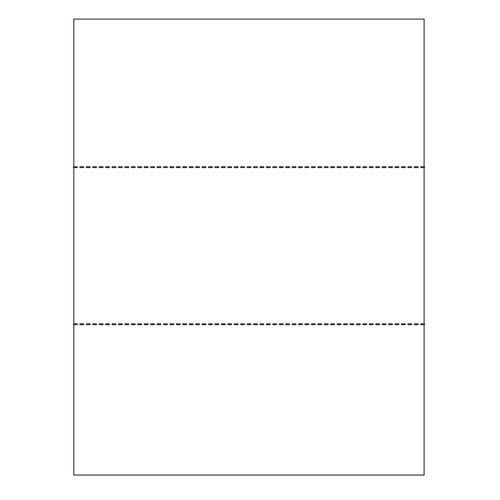 8.5 x 11 Cardstock Double-Perforated in 3 Equal Parts - 250 Sheets