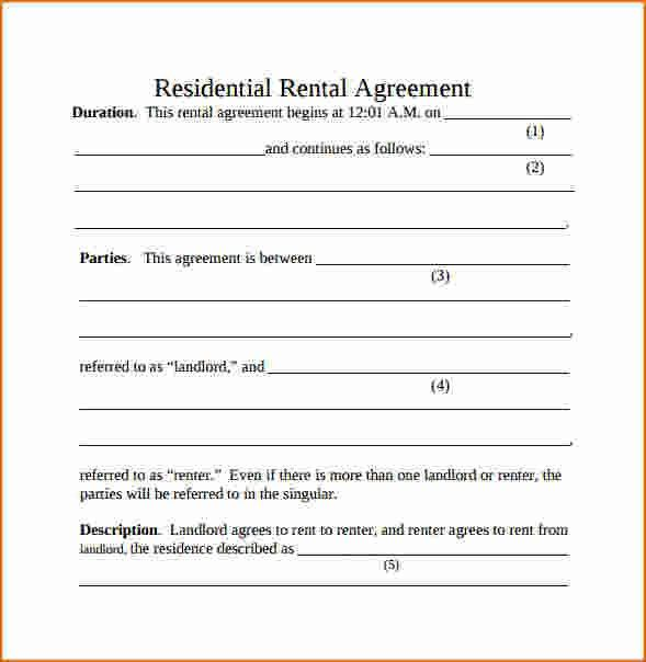 7+ Simple Rental Agreement | Printable Receipt
