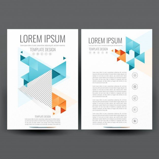 Commercial Annual Report Template With Orange And Blue Wavy Shapes ...