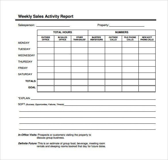 Post Activity Report Template - Calendar