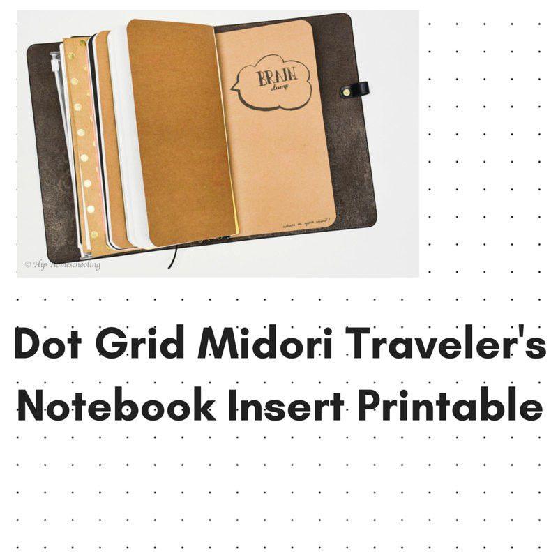Dot Grid Journal Instant Download Travelers Notebook