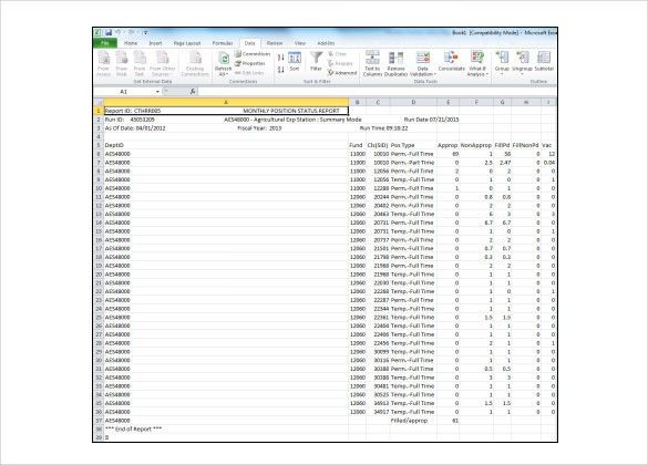 Monthly Report Management Templates - Word, Excel Format ...