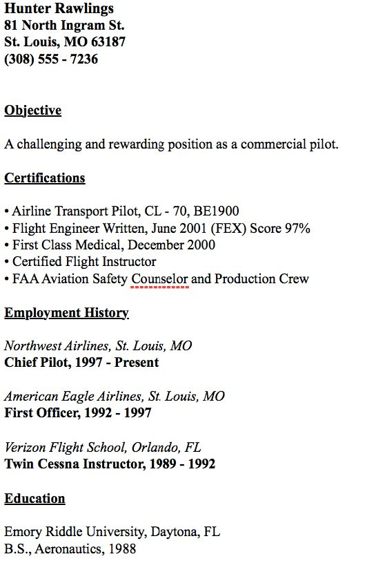 Example Of Chief Pilot Resume - http://resumesdesign.com/example ...