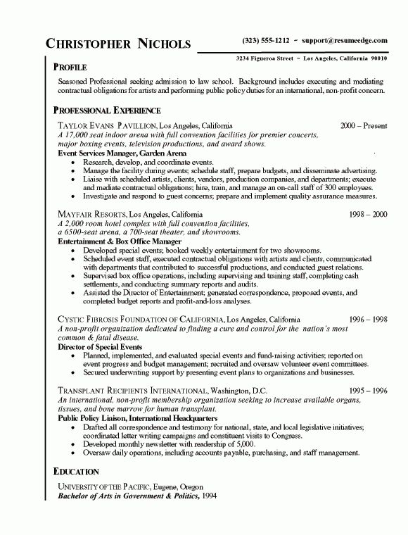 5+ chronological resume format - Budget Template Letter