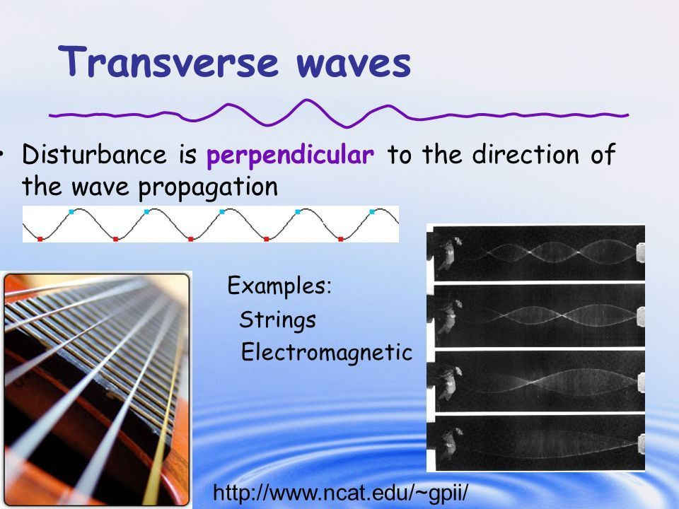 Chapter 15: Wave Motion 15-2 Types of Waves: Transverse and ...