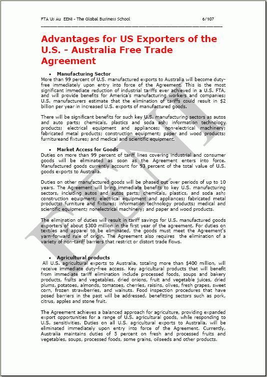 United States-Australia Free Trade Agreement