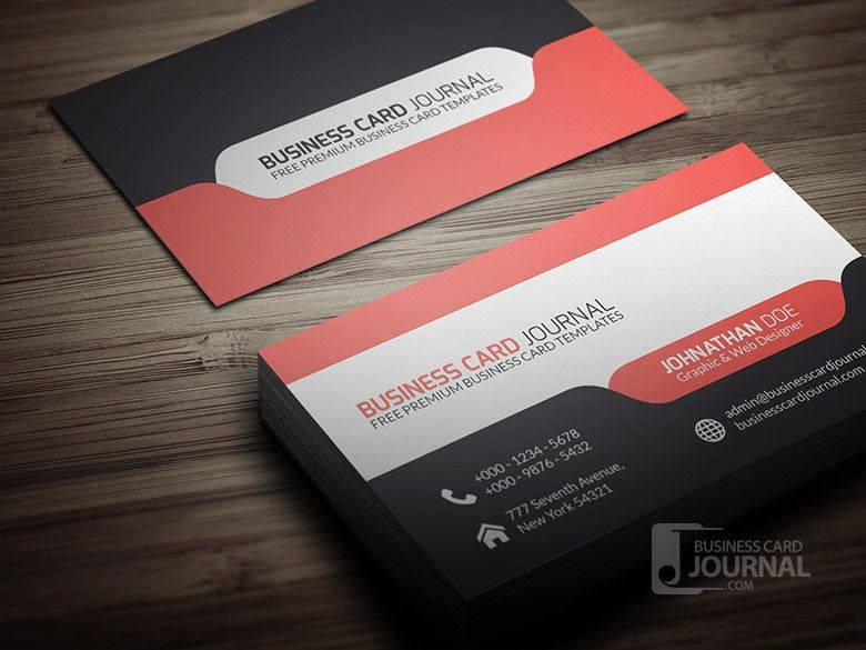 Free Stylish & Modern Tab Design Business Card Template » Business ...