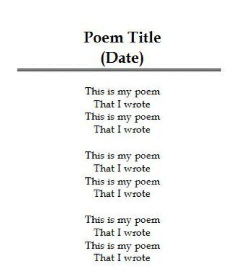 Poems With 4 Stanzas And Lines | MyPoems.Co