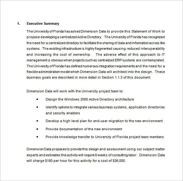 Work Proposal Template – 10+ Free Sample, Example, Format Download ...