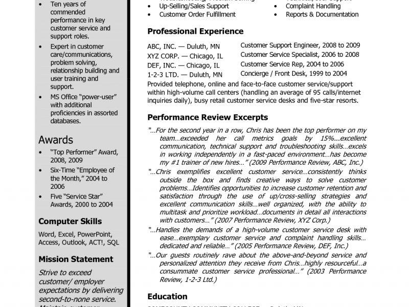 Easy Describe Customer Service Experience On Resume Homey - Resume ...