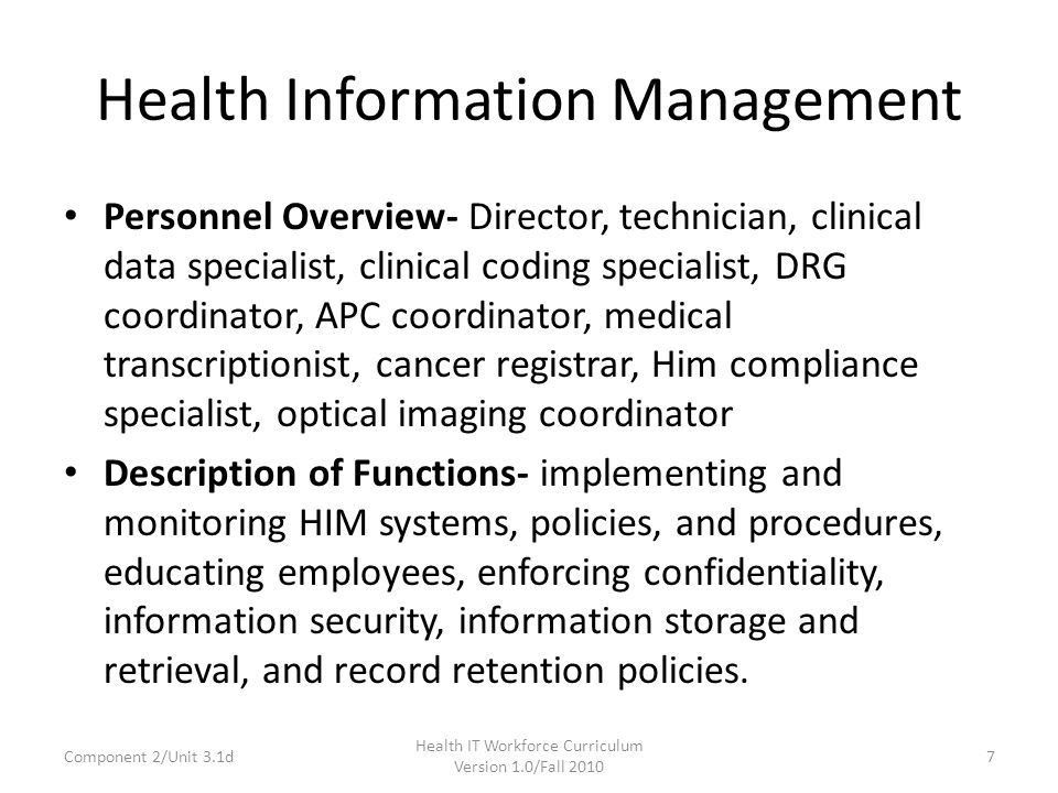 Component 2: The Culture of Healthcare 3.1: Unit 3: Health Care ...