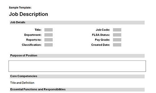 Job description templates download | Download toolkit
