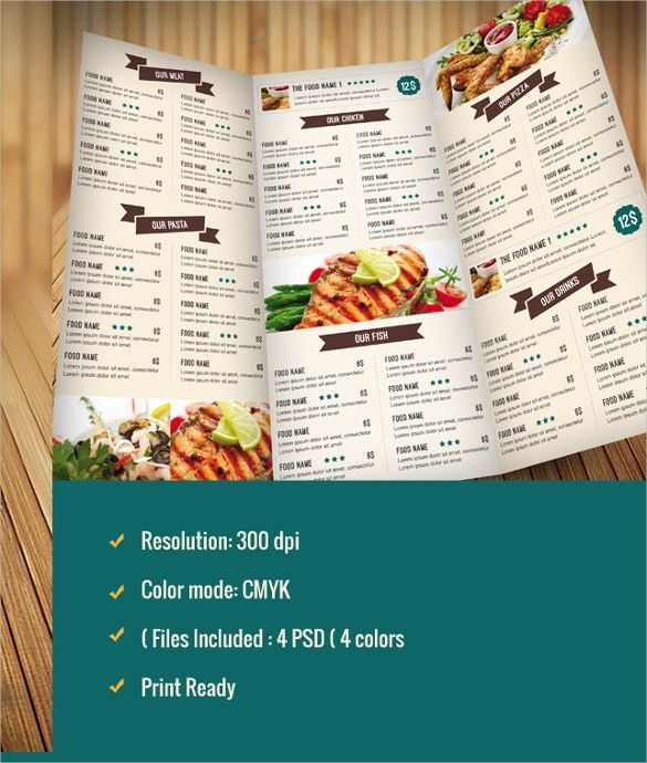 9+ The Psychology of a Good Menu Designs | Free & Premium Templates