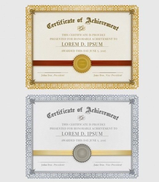 25+ Free Certificate Templates