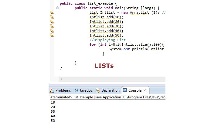 Java List Interface Explained With Example | Tutorials Collection