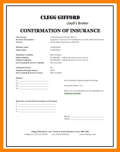 7+ insurance contract template | science-resume