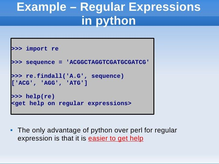 Introduction to python for bioinformatics