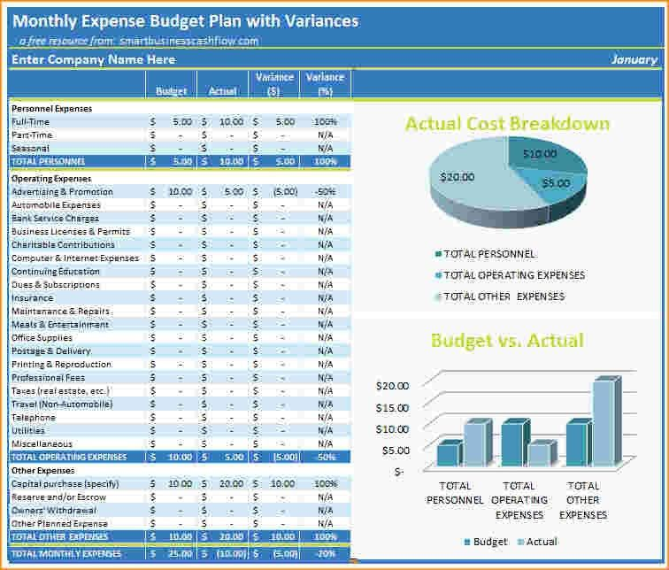 Excel Budget Template.excel Monthly Budget Planner.png ...