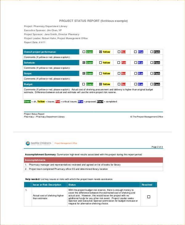 9+ Status Report Examples, Samples