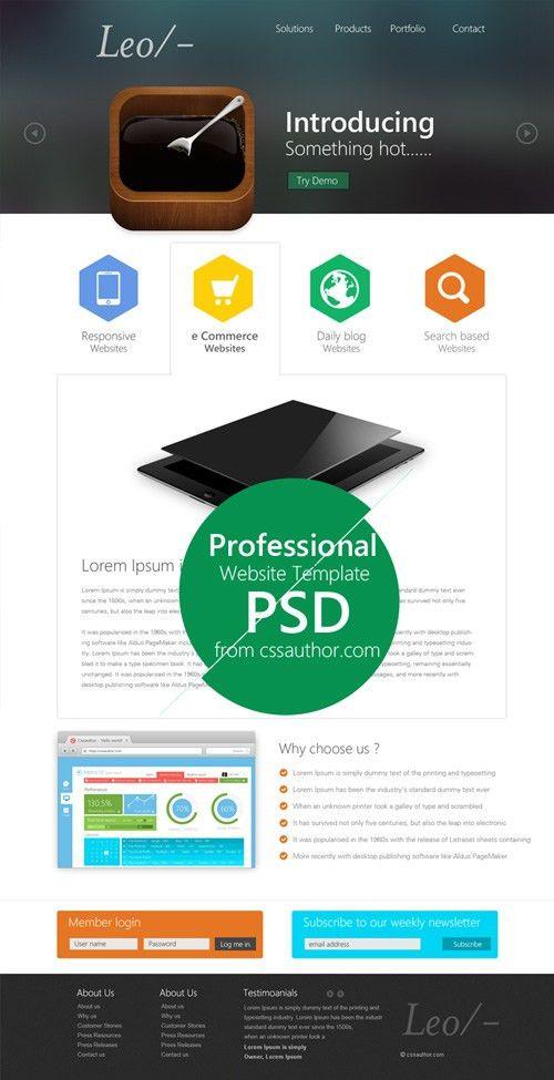 30 Free Responsive PSD Website TemplatesPixel2Pixel Design