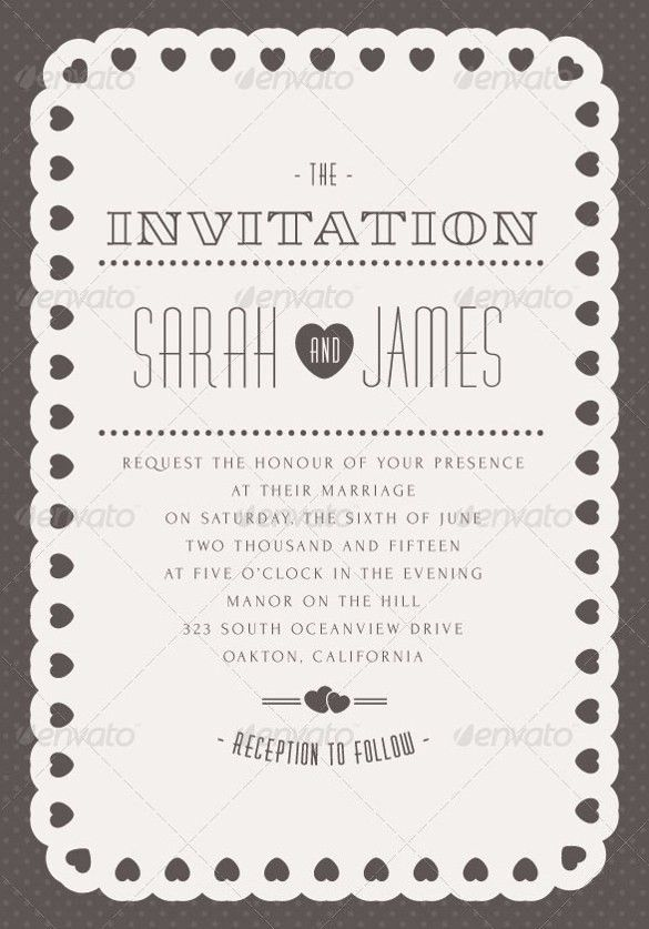 Wedding Invitation Design Templates – 23+ Free JPG, PSD, Indesign ...