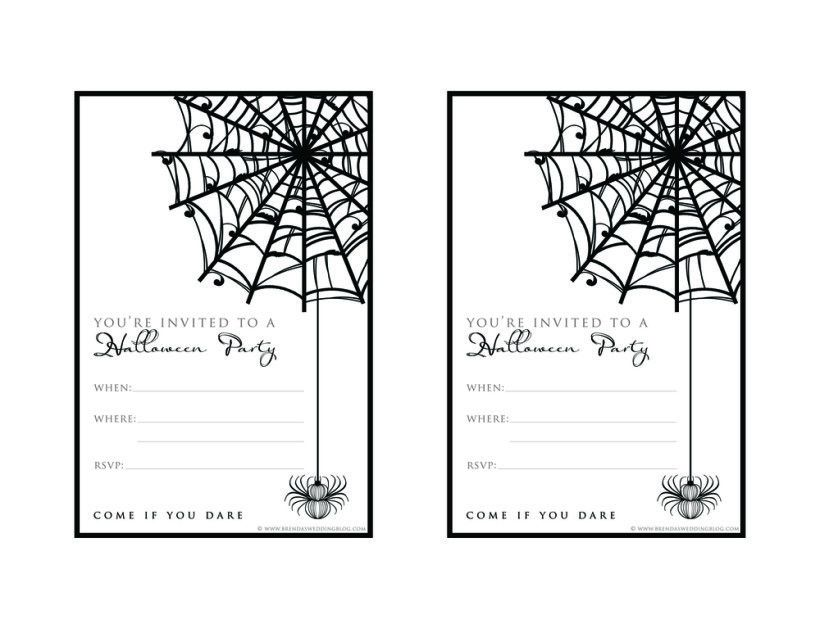 Halloween Party Invitation Template | THERUNTIME.COM