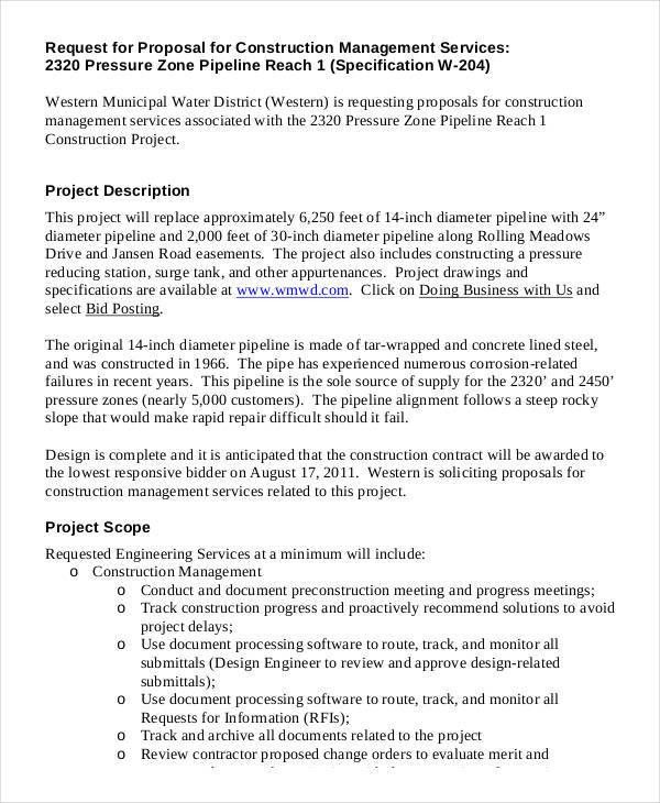 Construction Business Proposal Templates - 10 Free Word, PDF ...