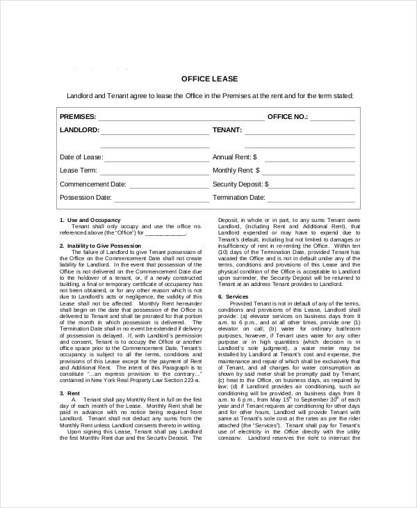Lease Contract Template - 7+ Free Word, PDF Documents Download ...