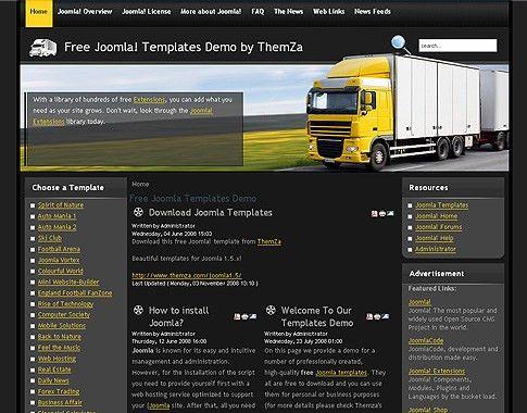 Global Logistics' - Free Joomla 1.5 Template by ThemZa