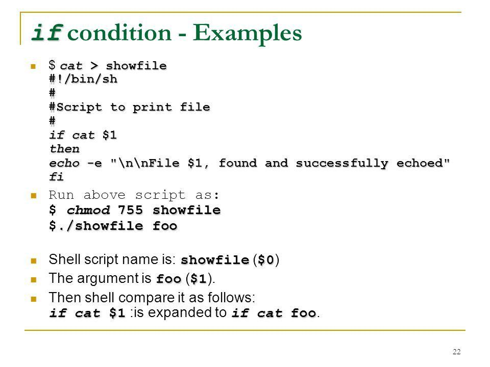 LINUX Shell Scripting Advanced Issues - ppt download