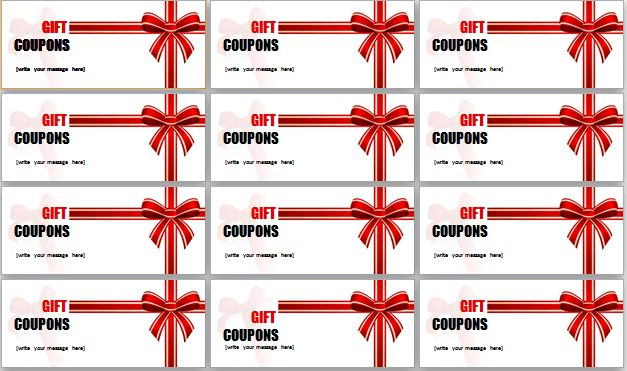 Creative MS Word Gift Coupon Templates | Document Templates