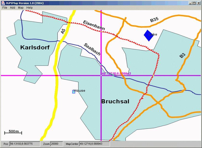 JGPSMap Java GPS Map