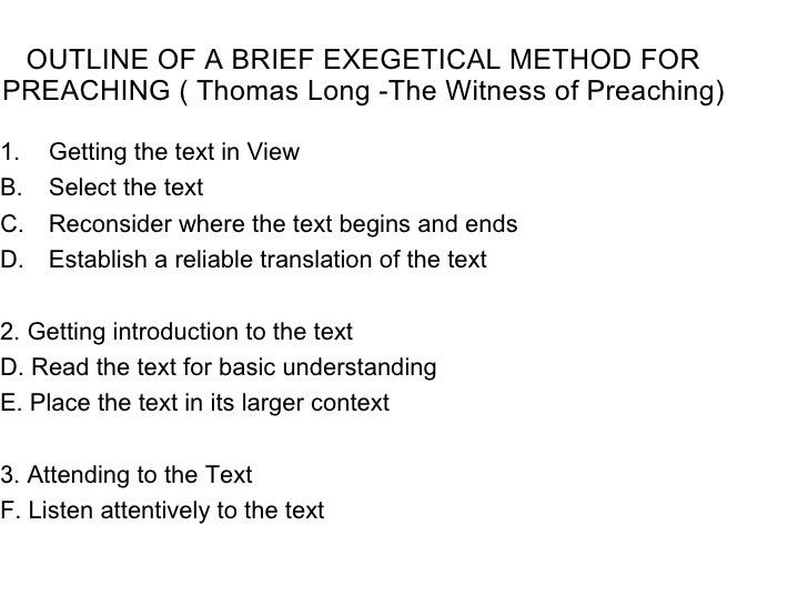 Homiletics notes