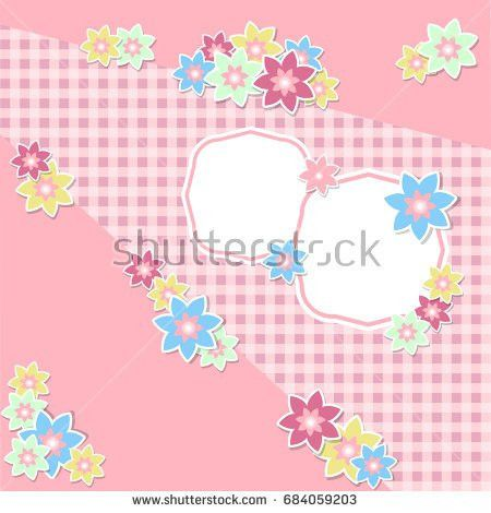 Vintage Scrap Booking Template Kid Party Stock Vector 577262728 ...