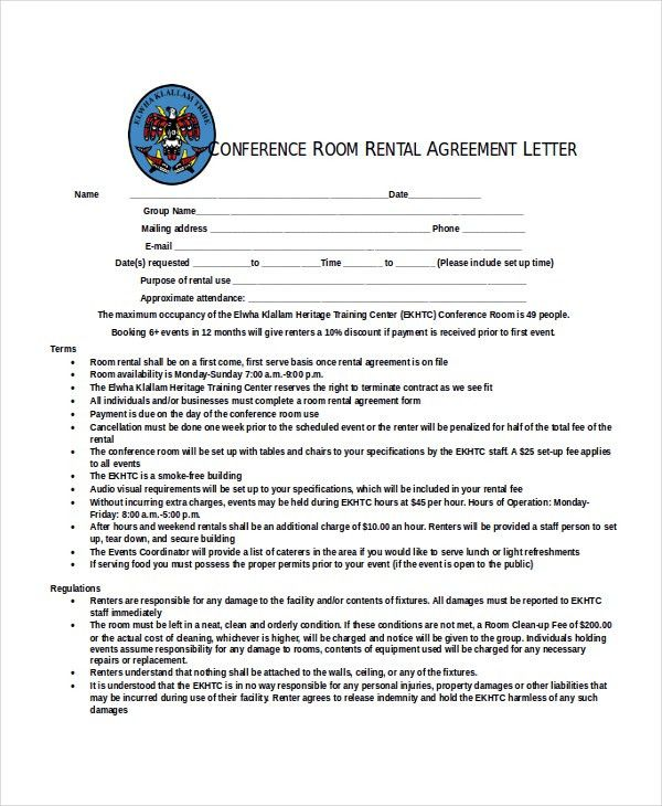 11+ Rental Agreement Letter Templates – Free Sample, Example ...