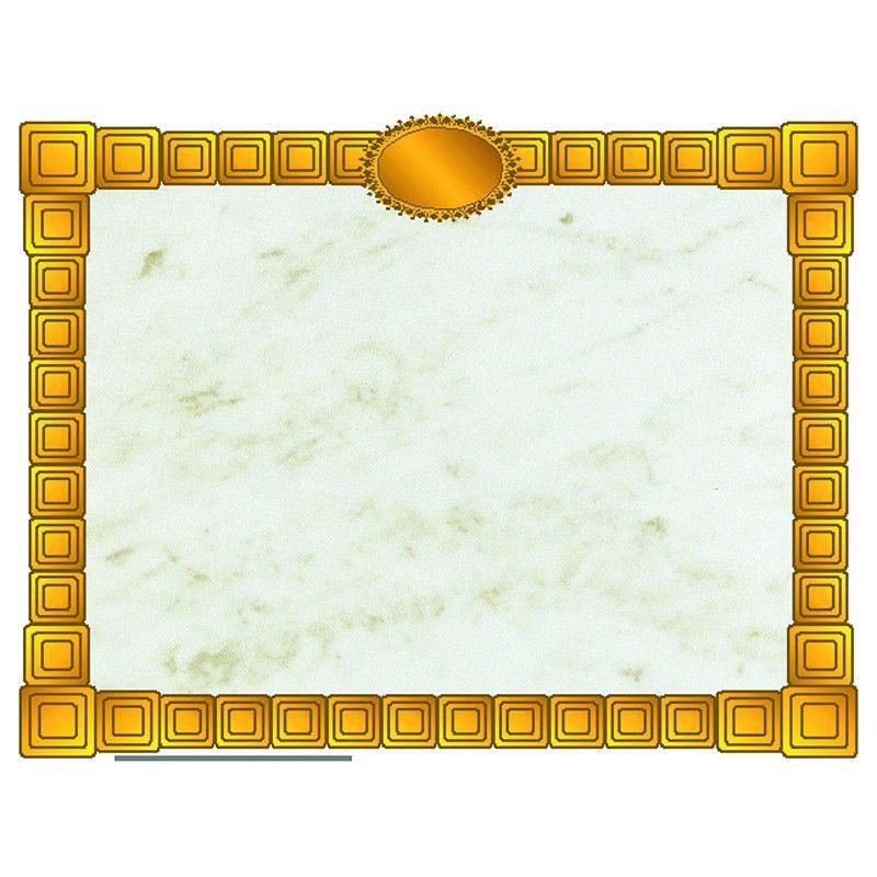 Gold block certificate border | Computer paper and Products