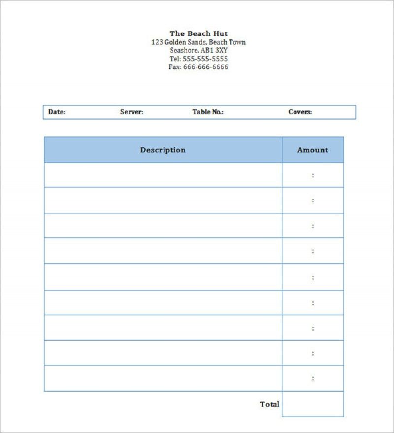 Download Restaurant Invoice Template Free | rabitah.net