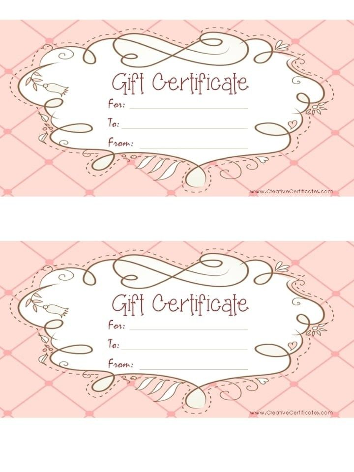Free Printable Gift Certificate Templates - gameshacksfree