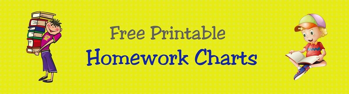 FREE Printable Homework Charts for Teachers & Students | ACN Latitudes