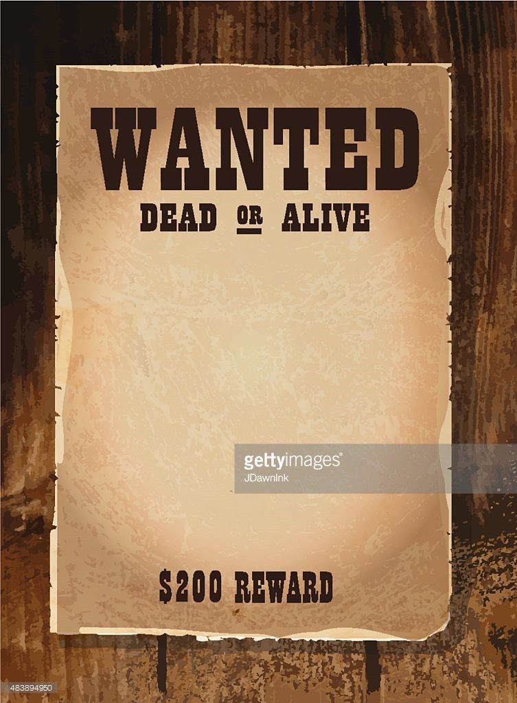 Vector Illustration Of Wanted Poster Template Vector Art | Getty ...