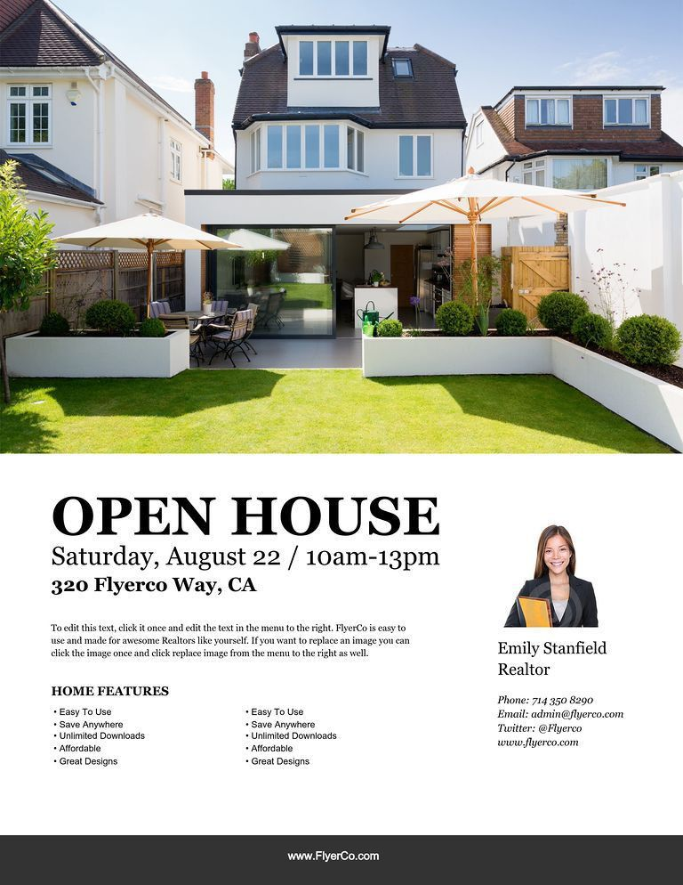 Open House Flyer. Open-House-Flyer-1 Real Estate Company Open ...